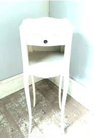 black glass top bedside table tall thin furniture long narrow side good slim lamp white gloss bedsid