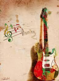 colorful guitar wallpaper