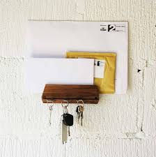 Brown Envelope Beetwen Big And Little White Envelope And Unique Wood  Material Fit To Cool Key Hooks Plus Nice Key On Simple Wall