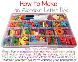 how to make alphabet letter box