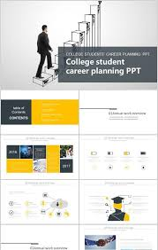 College Ppt Templates Creative Stairs College Student Career Ppt Template