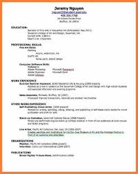 A Job Resume Inspiration How Make A Resumer Resume For First Job As Practical More