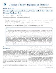 Pdf Comparing Performance Category Criteria For U S Navy