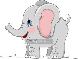 happy baby elephant wall decal wall decals