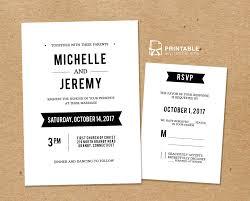 Diy Wedding Invitation Designs Black And White Diy Wedding Invitation Templates Wedding