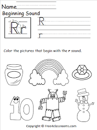 Students look at the pictures and circle the correct word. Free Beginning Sounds Worksheet Letter R Free4classrooms