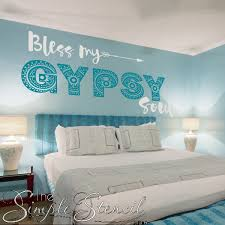 bless my gypsy soul vinyl wall decals with a bohemian twist