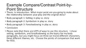 engu short stories essay of comparison paragraph rubric   writing a comparecontrast essay about literature ppt video literary comparison example by pointstru literary comparison essay