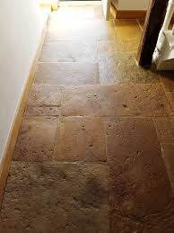 sandstone floor tiles. Sandstone Floor After Cleaning And Sealing In Hattersley Tiles 2