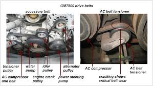 gmt800 drive belts and components