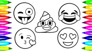 Emoji Coloring Pages How To Draw And Color Emoji Faces Learn