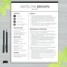 Template For Teacher Resume Extraordinary Teacher Resume Template For Ms Word Educator Writing Guide Inside