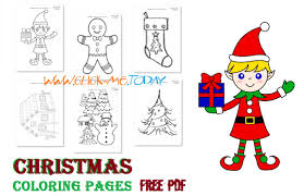 111 Free Printable Christmas Coloring Pages Pdf