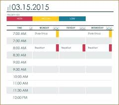 Template For Class Schedule Also Class Schedule Templates To Create ...