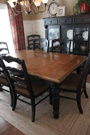 paint dining room set black leave top as wood and gl