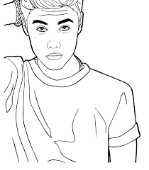 coloring pages of justin bieber coloring page coloring page coloring for kids dreaded pages big general