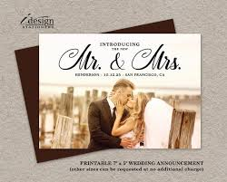 Wedding Announcement Photo Cards Wedding Announcement Cards Printable Marriage Announcements Etsy