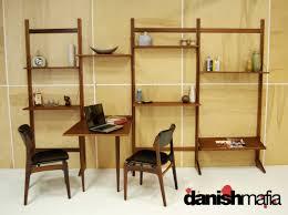 mid century danish modern teak cado wall shelving system display shelves designer desk accessories and organizers