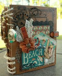 Beach Photo Albums Vintage Beach Mini Album By Chattycat Mini Albums Pinterest