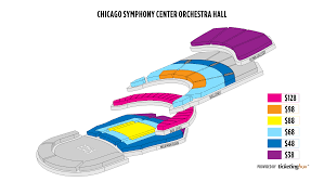 Chicago Symphony Seating Chart Chicago Symphony Center Orchestra Hall Seating Chart