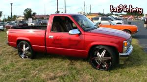90's RED Chevrolet Silverado C1500 Truck on 26