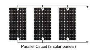 solar power panels or cells in parallel circuits parallel circuit 3 solar panels