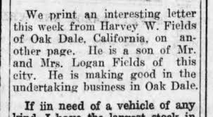 mention of letter written by Harvey Fields in the paper - Newspapers.com