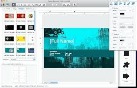 Business Card Design Templates For Mac Free Will