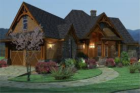 117 1092 home plan left elevation of this 3 bedroom 2091 sq ft plan 117