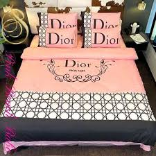 dior bedding set pink queen