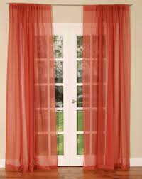 slot top voile curtain panel