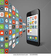 Choosing Mobile Phone Different Modern Smartphones Stock
