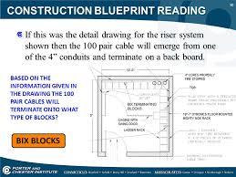 construction blueprint reading ppt video online download Phone Punch Down Block bix blocks construction blueprint reading