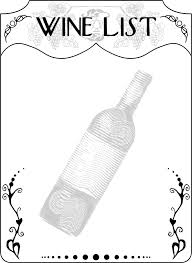 Wine Border Template Download Free Png Wine List Dlpng