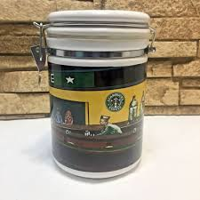4.7 out of 5 stars 493. Starbucks Coffee Canister Chaleur Nighthawks Diner Edward Hopper Porcelain Coffee Starbucks Coffee Coffee Canister