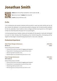 Standard CV Template Template   pacq co