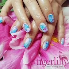 tie dye sharpie nails salon westbourne tigerlillynails bournemouth bournemouthnails