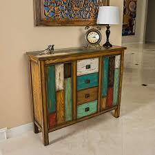 distressed antique furniture. Great Deal Furniture | Delaney Antique Distressed Wood Storage Cabinet  In Multicolor Distressed Antique Furniture E