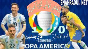 ملخص مباراة الارجنتين ضد البرازيل 1-0 مباراة مجنونة، نهائي كوبا أمريكا،  تعليق رؤوف خليف. - YouTube