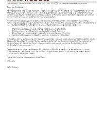 Cover Letter For Teacher Application Educational Cover Letter ...