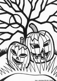 Small Picture Scary Halloween Coloring Pictures Coloring Pages Kids