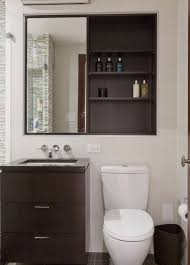 False Wall To Enable Recessed Cabinet Behind Mirror And Inset Delectable Inset Bathroom Cabinets Interior