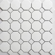 Mosaic Bathroom Floor Tile Online Shop Matte White Octagonal Ceramic Mosaic Tile Kitchen And