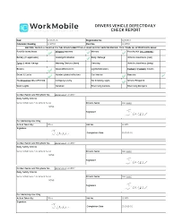 Vehicle Check Out Sheet Template Its Your Inspection Van