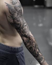 Wip Blackwork Sleeve татуировки Tatuaje Manga Brazo Tatuajes