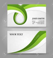 Green Card Template Green And Gray Modern Business Card Template With Ribbons Royalty