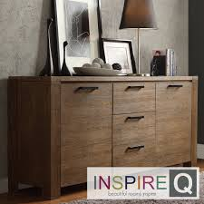 Catalpa Walnut Finish Weathered Sideboard by iNSPIRE Q Classic by iNSPIRE Q