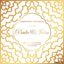 Royal Invitation Template Stylish Gold And White Wedding Card Royal Vintage Wedding