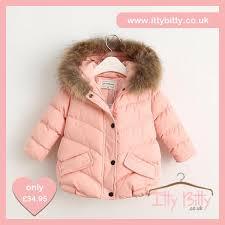 itty bitty girls pink short padded hooded coat