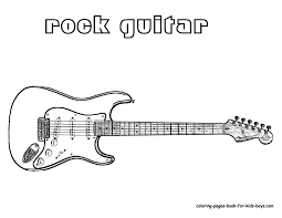 Electric Guitar Coloring Page Outstanding Electric Guitar Coloring ...